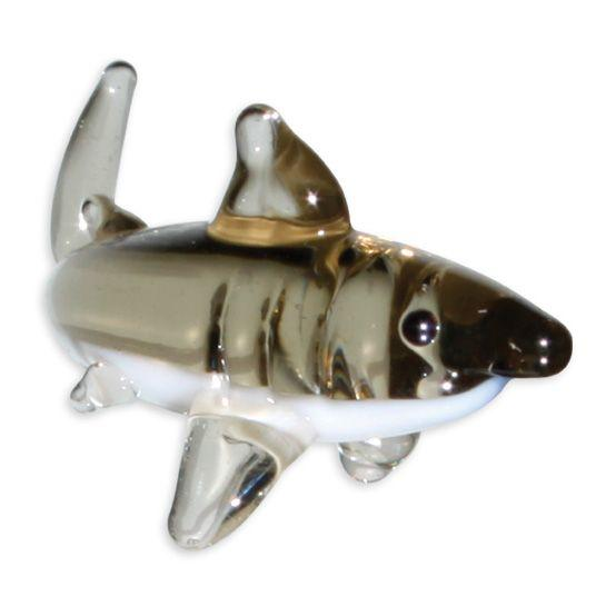 LookingGlass Jawz The Great White Collectible Glass Miniature Figurine