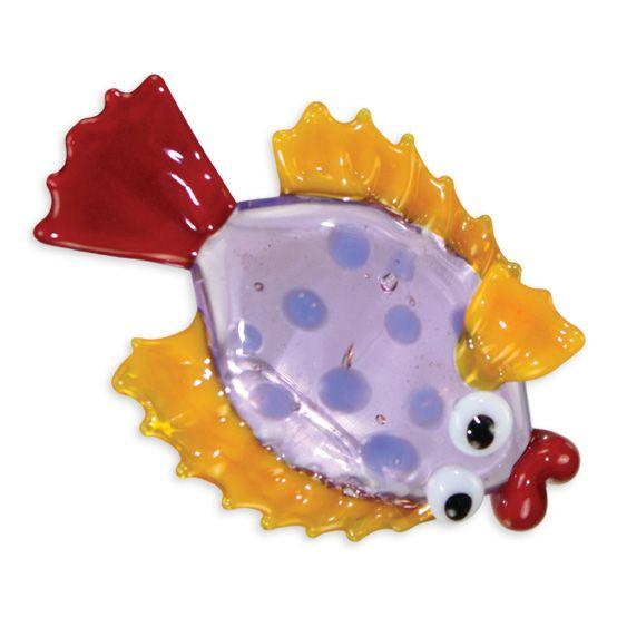 LookingGlass Flo The Flounder Collectible Glass Miniature Figurine