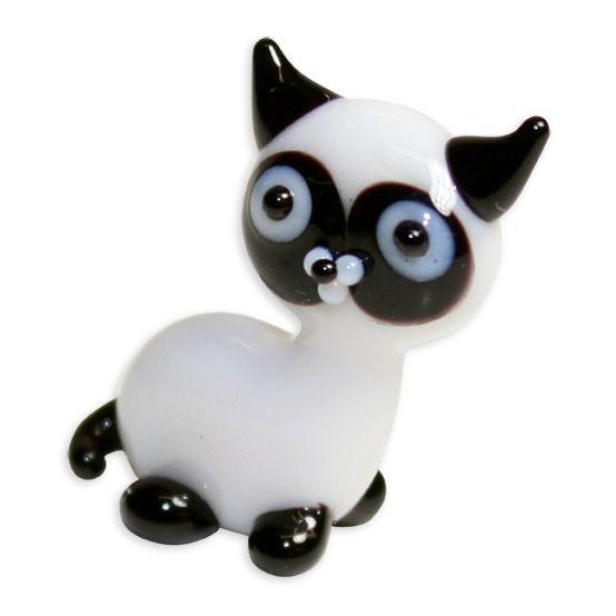 LookingGlass Sammy The Siamese Cat Collectible Glass Miniature Figurine