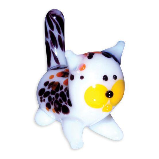 LookingGlass Callie The Calico Cat Collectible Glass Miniature Figurine