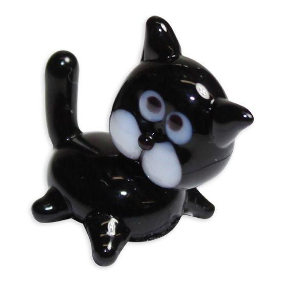LookingGlass Spooky The Black Cat Collectible Glass Miniature Figurine