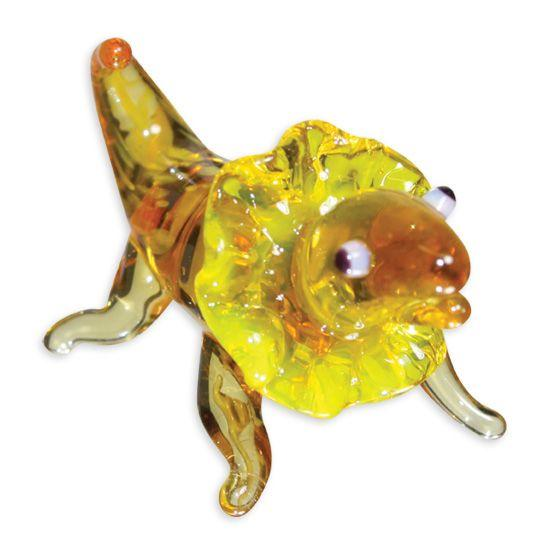 LookingGlass Phil The Frilled Lizard Collectible Glass Miniature Figurine