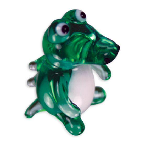 LookingGlass Slater The Gator Collectible Glass Miniature Figurine