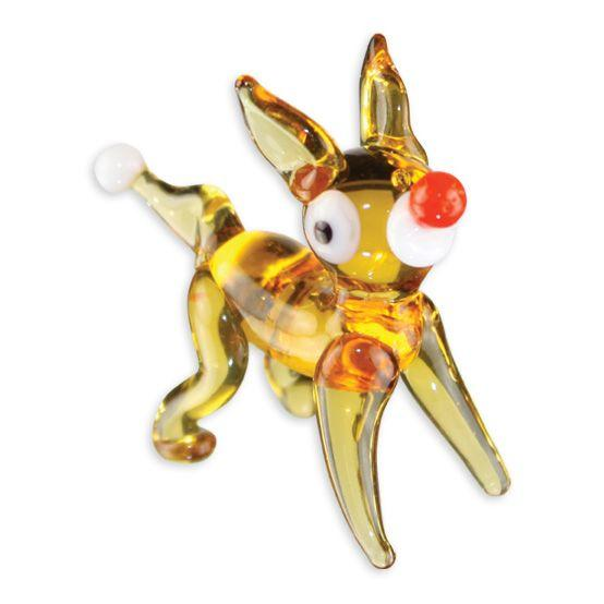 LookingGlass Rudolph The Reindeer Collectible Glass Miniature Figurine