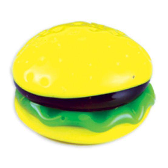 LookingGlass Twohands The Hamburger Collectible Glass Miniature Figurine