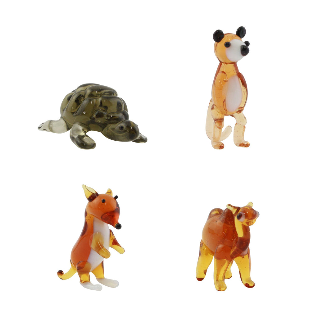 LookingGlass Animals 1 Set Minature Glass Collectibles, Pack of 4