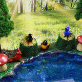 LookingGlass Birds Set Minature Glass Collectibles, Pack of 4