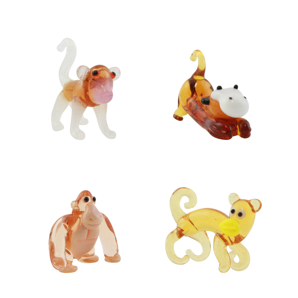 LookingGlass Mammals Set Minature Glass Collectibles, Pack of 4