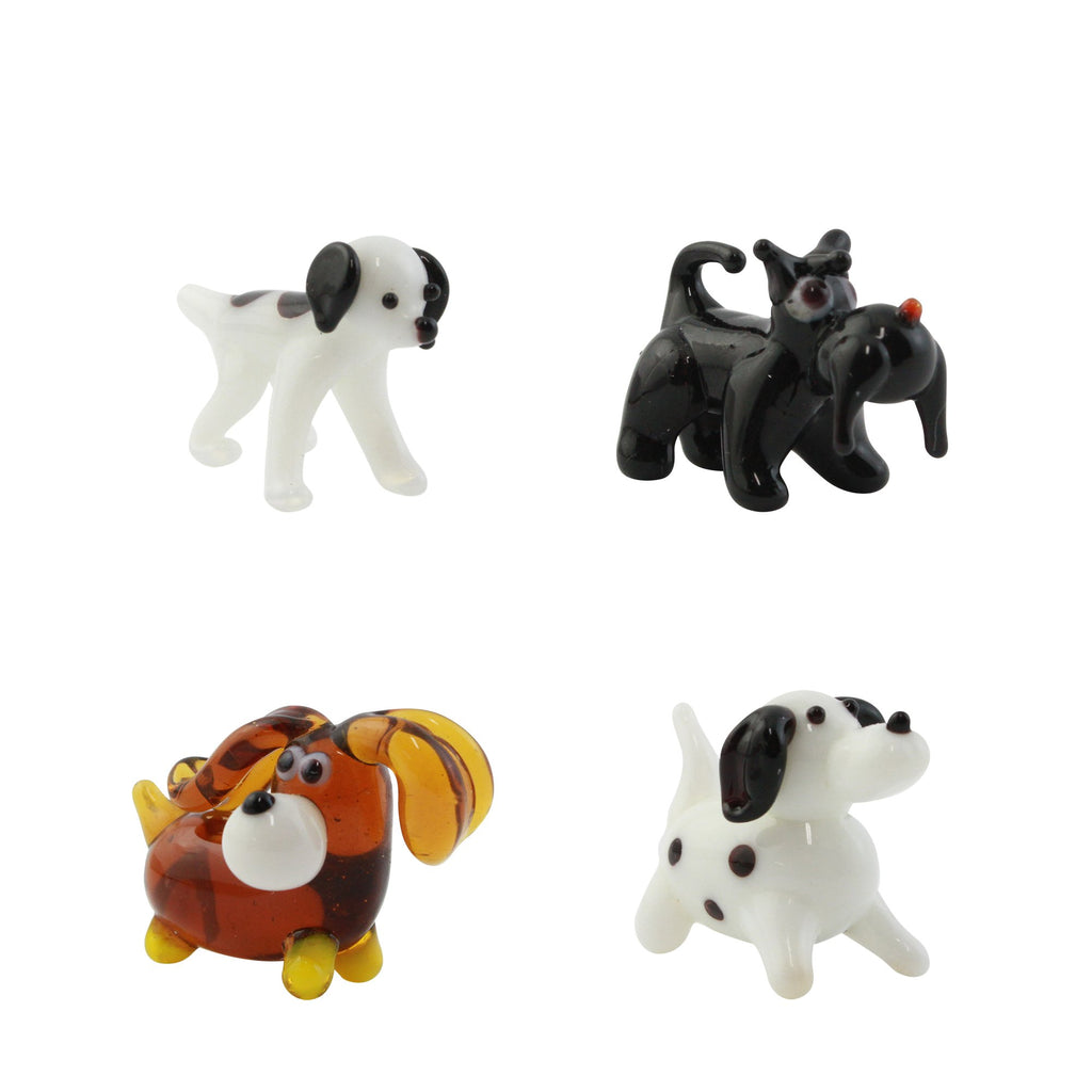 Looking Glass Dogs Set Miniature Collectible, Pack of 4