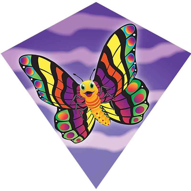 WindNSun MiniDiamond Butterfly Nylon Kite 18 Inches Wide