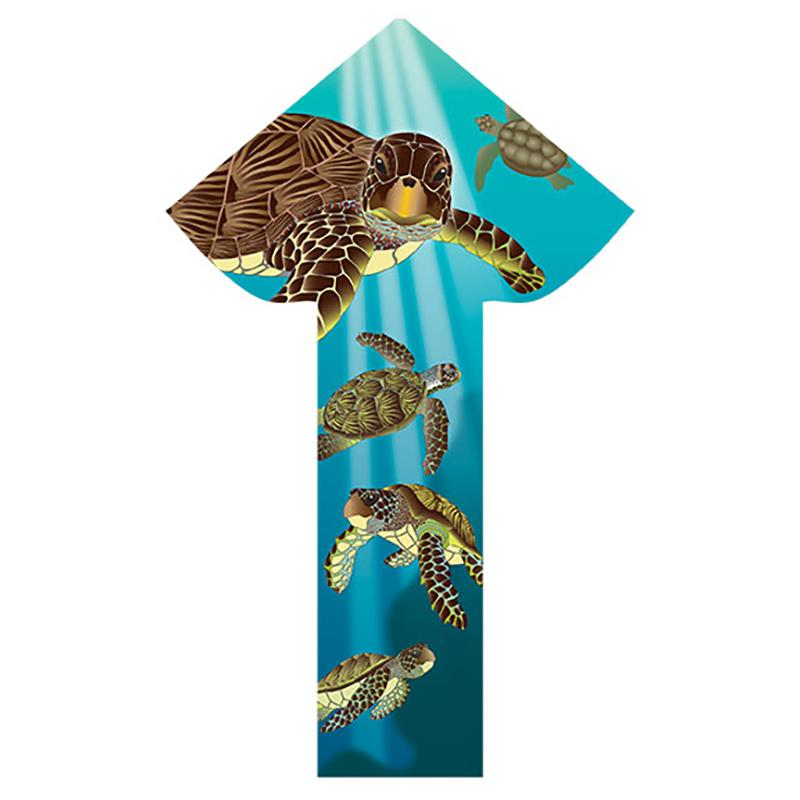 WindNSun BreezyFliers 42 SeaTurtles Nylon Kite 42 Inches Tall
