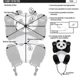 WindNSun Skyzoo Polyester Ripstop Panda Kite, 40 Inches Tall