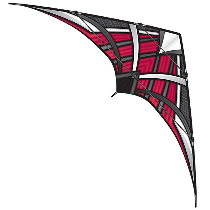 WindNSun NK93 Prosport Red Ripstop Nylon Stunt Kite 93 Inches Wide