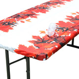 "TableClothPLUS 72"" Fall Fitted Polyester Tablecloth for 6' Folding Tables"