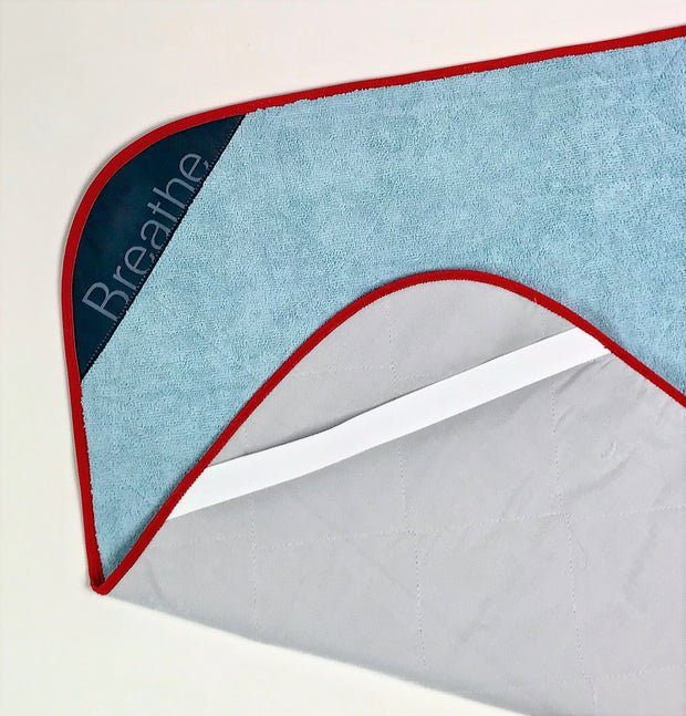 Breathe Mat - Aquatic Breathe Mat w/ Red Bias 72""