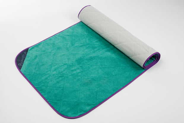 Breathe Mat - Green Breathe Mat w/ Purple Bias 72""
