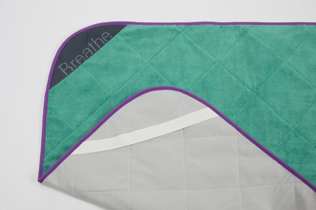 BreatheHOT - Green Breathe Mat w/ Purple Bias 72""