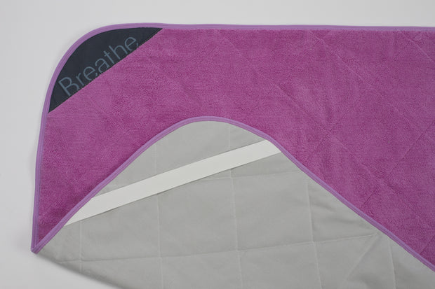 BreatheHOT - Pink Breathe Mat w/ Purple Bias 72""