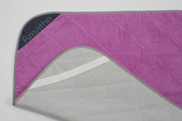 BreatheHOT - Pink Breathe Mat w/ Grey Bias 72""