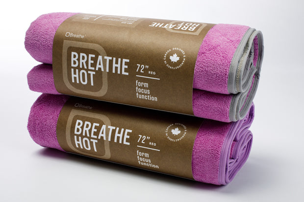 Breathe Mat - Pink Breathe Mat w/ Grey Bias 72""