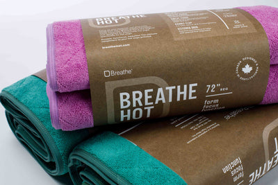 Breathe Mat - Pink Breathe Mat w/ Purple Bias 72""