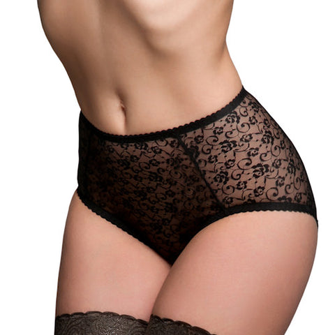 Betty Black Lace Briefs Main Image