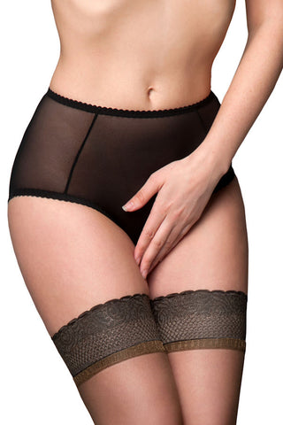 betty sheers briefs in black front