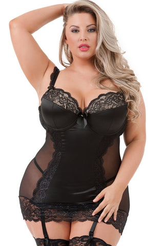 Black Lace Treasure Me Chemise