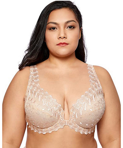 Delmira Front Fastening Full Cup Bra Nude