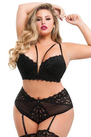 Black Parisienne Sexy Lacy Set