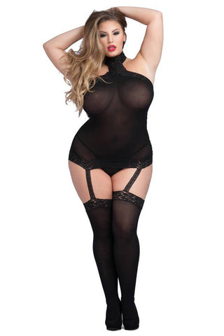 Stretch Garter Dress black full