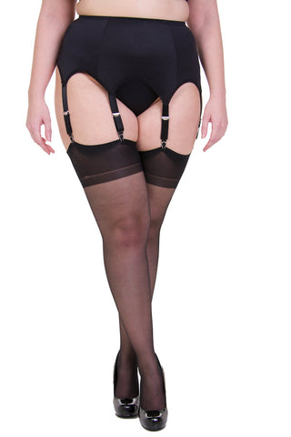 Voluptua Plus Size Vintage Stockings Black