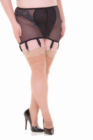 Voluptua Natural Lace Top Thigh High Stockings