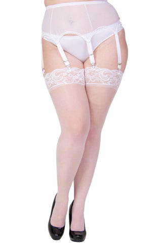 vol003 white lace top stockings