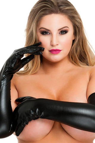 Plus Size Elbow Length Opera Gloves