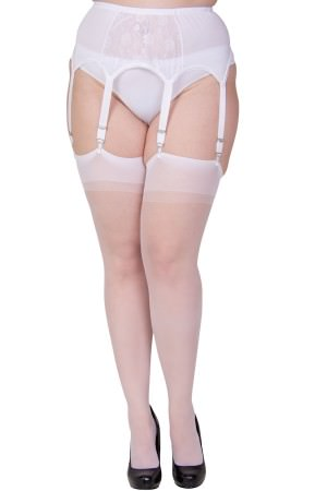 basic white sheer stockings xl and xxl