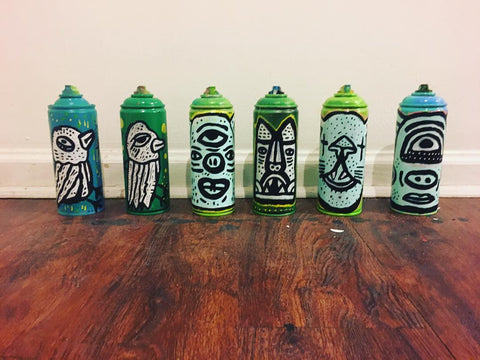 jaymes josef chicago artist spray paint cans