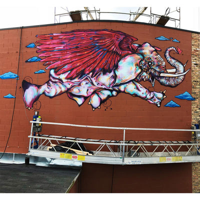 "PakRat Ink ""Take Off"" Mural by Bunny!XLV"