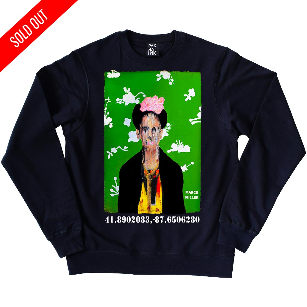 "PakRat Ink Unisex Crewneck Sweatshirt ""Big Frida"" by Marco Miller"
