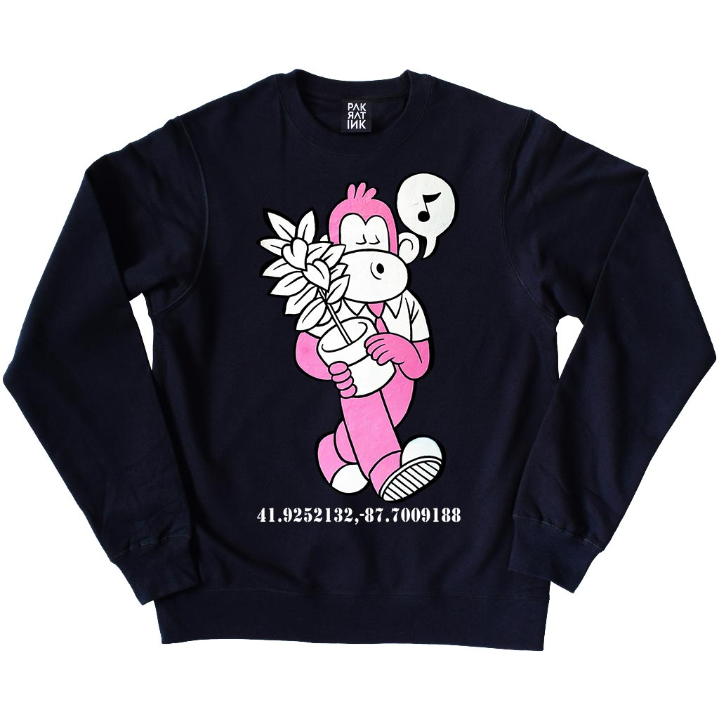 "PakRat Ink Unisex Crewneck Sweatshirt ""Dipso Facto"" by Mosher"