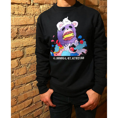 "PakRat Ink Unisex Crewneck Sweatshirt ""Sugared Plum"" by Elloo Chicago"