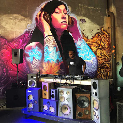 "PakRat Ink ""Good Vibrations"" Mural by Czr Prz Frankie Knuckles Foundation B-Line Celebration"