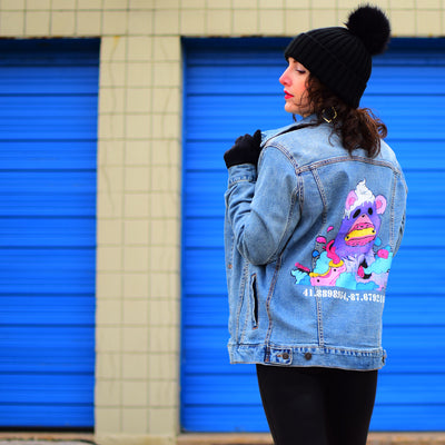 PakRat Ink Denim Jacket Unisex EllooElloo