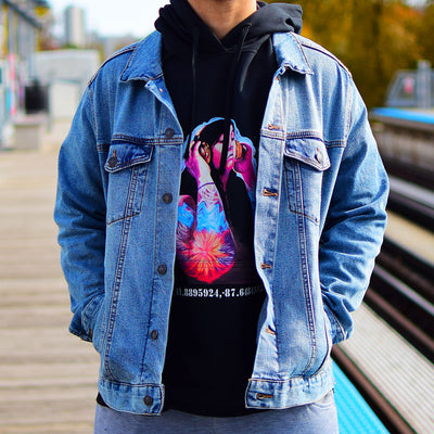 "PakRat Ink Unisex Hoodie ""Good Vibrations"" by Czr Prz Chicago CTA Station"