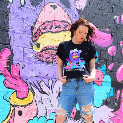 "PakRat Ink ""Sugared Plum"" Mural by Elloo Black T-Shirt Unisex"