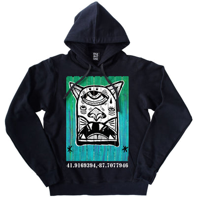 "PakRat Ink Unisex Hoodie ""Patio Dweller 1"" by Jaymes Josef"