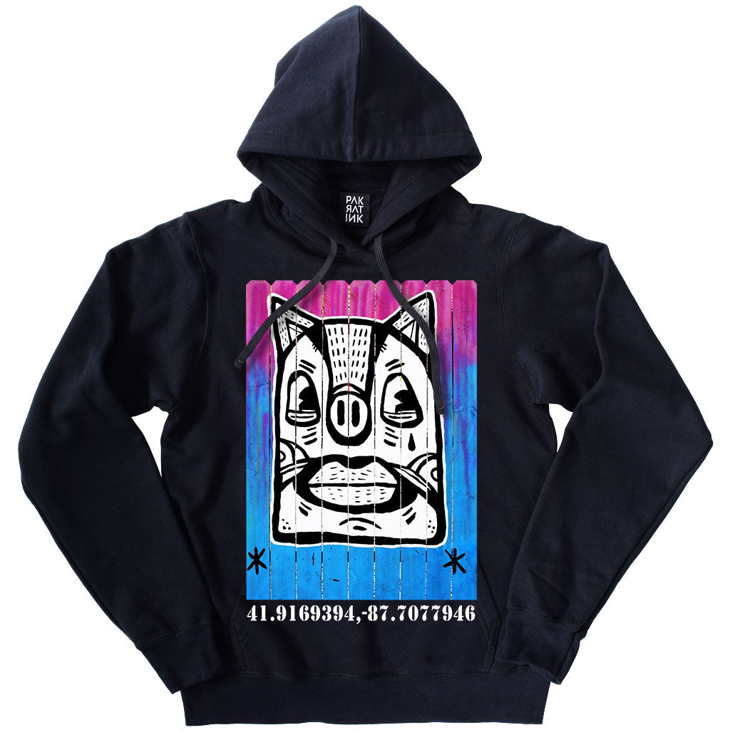 "PakRat Ink Unisex Hoodie ""Patio Dweller 3"" by Jaymes Josef"