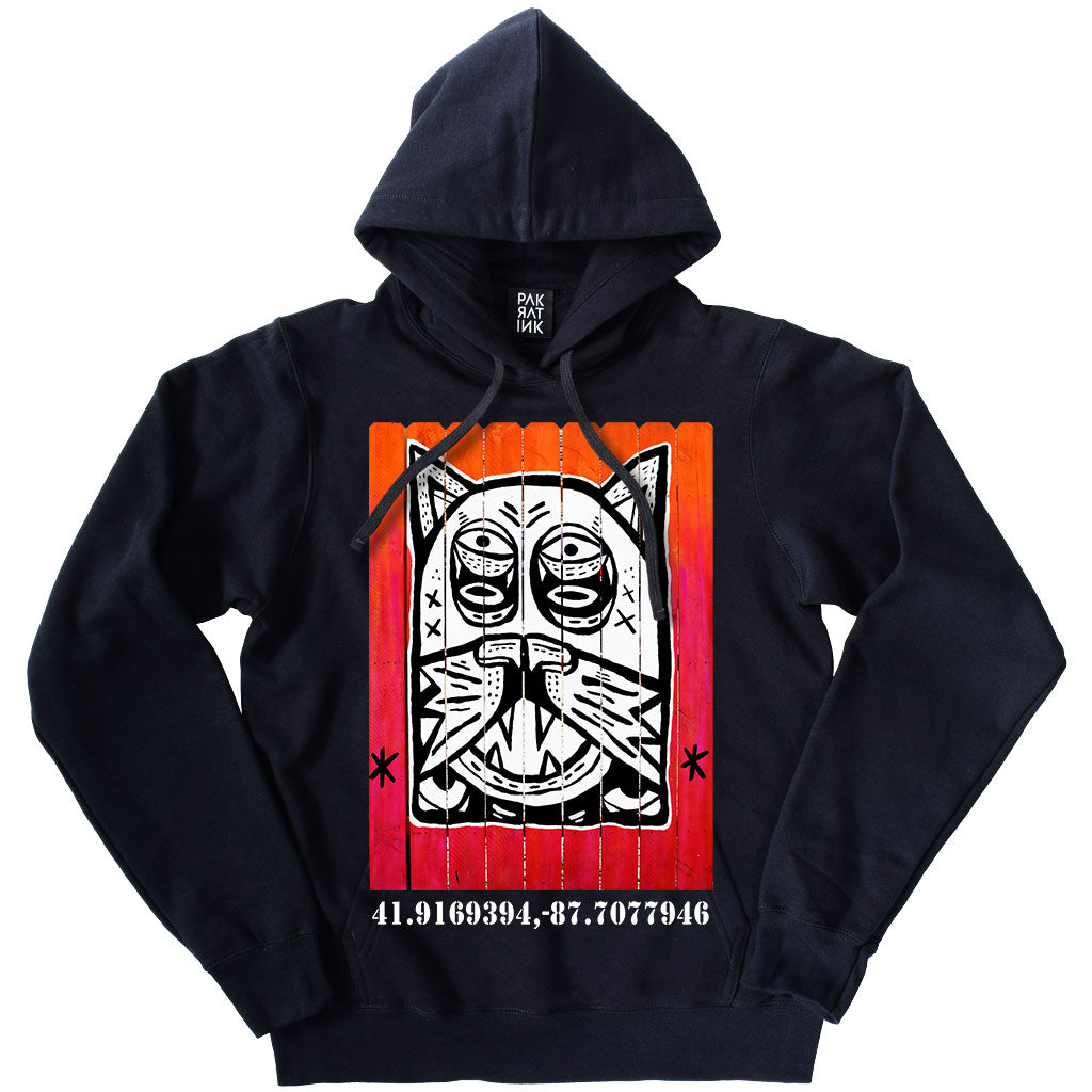 "PakRat Ink Unisex Hoodie ""Patio Dweller 2"" by Jaymes Josef"