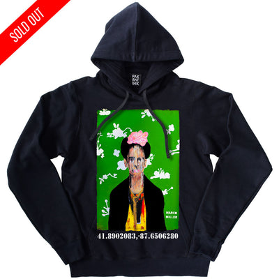 "PakRat Ink Unisex Hoodie ""Big Frida"" by Marco Miller"