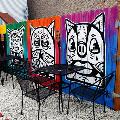 "PakRat Ink ""Patio Dweller 2"" Mural by Jaymes Josef"